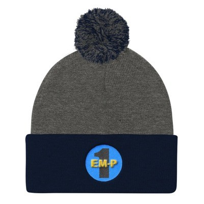 Pom Pom Knit Cap