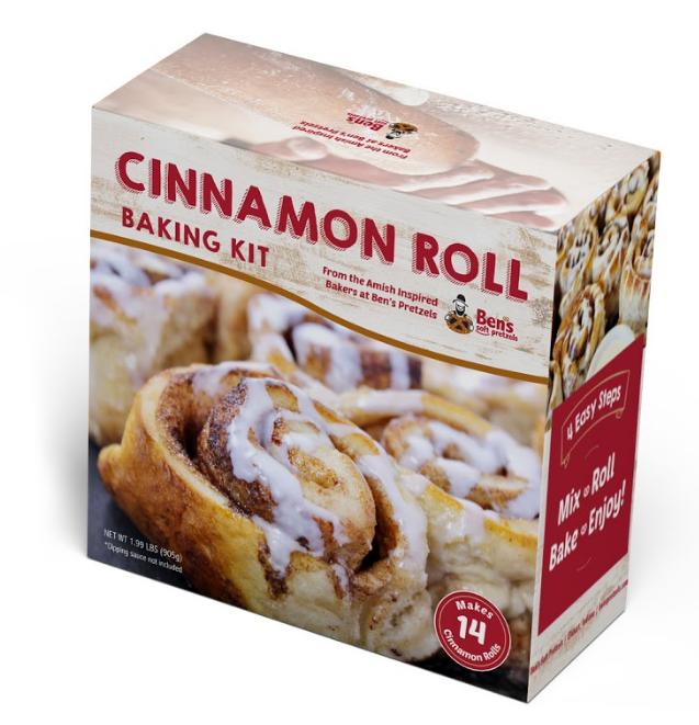 Amish Cinnamon Rolls- 2Pack Amish Cinnamon Roll Dry Kit