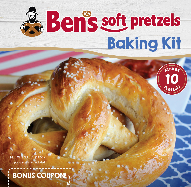 Amish Baking Sample Pack-1 Ben's Soft Pretzels Kit and 1 Amish Cinnamon Roll Kit