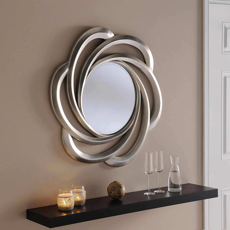 Silver Pretzel Shaped Accent Mirror