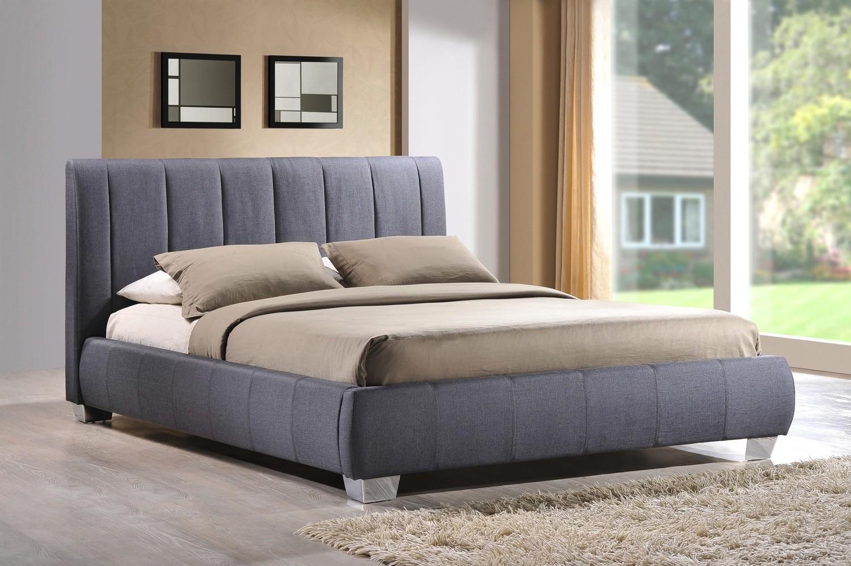 Time Living Braunston Upholstered Bed Frame in Grey