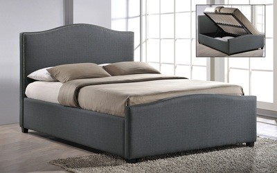 Time Living Brunswick Ottoman Lift up Storage Bed in Grey