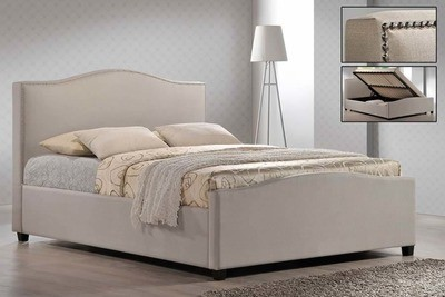 Time Living Brunswick Ottoman Lift up Storage Bed in Sand