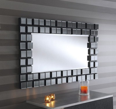 Yearn Mona Silver & Smoked Grey Float Mirror Framed