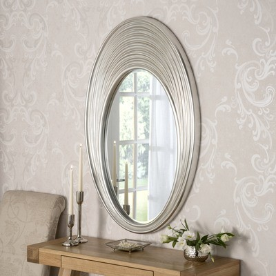 Yearn Ascot Silver Oval Mirror