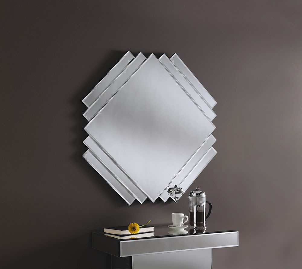 YEARN GLASS Art 200 Silver Bevelled Mirror