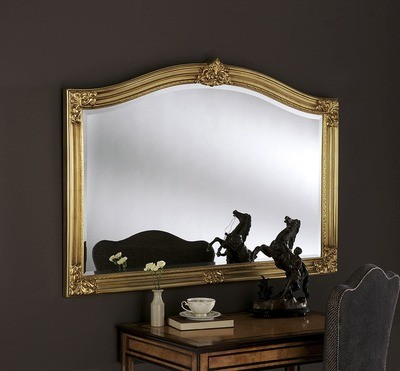 Yearn Gold Crested Mirror
