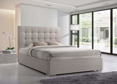 Nevada Sand Fabric Upholstered Bed