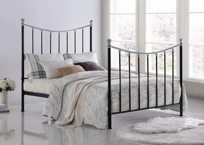Vienna Black Metal Bed Frame