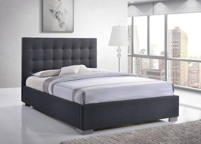 Nevada Grey Upholstered Double Bed