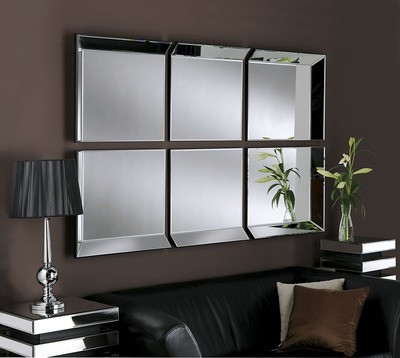 Yearn 6 Panel Bevelled Wall Mirror
