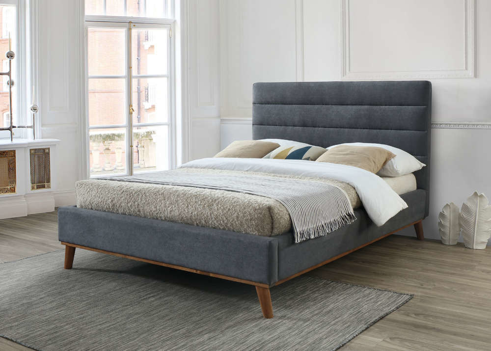 Mayfair Fabric Bed Frame (Gray)