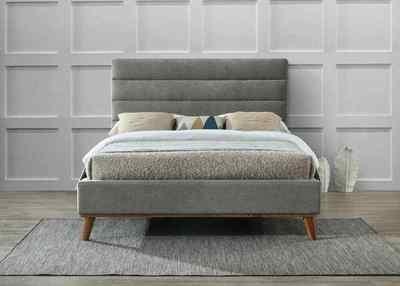 Mayfair Fabric Bed Frame (Light Gray)