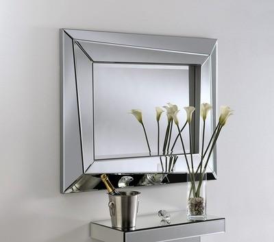 Yearn Art Deco Silver Glass Mirror
