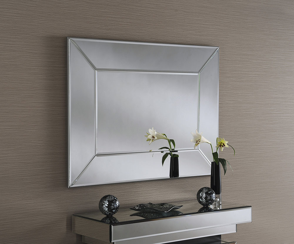 Yearn Art Deco Rectanglar Wall Mirror