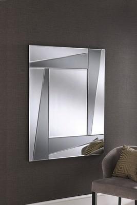 Modern Art Deco Smoked Mirror By Yearn