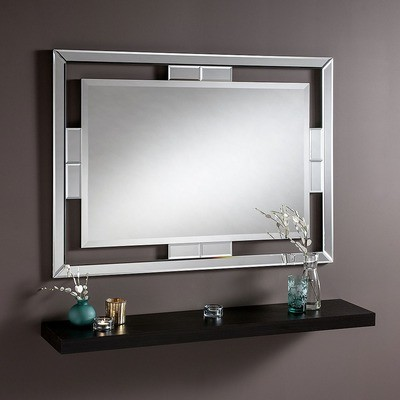 Silved-Tone Cut Out Frame Mirror by Yearn