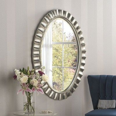 Oval Bevelled Wall Mirror by Yearn
