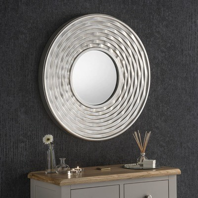Chunky Round Framed Mirror by Yearn