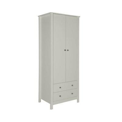Florence Soft Grey 2 Door 2 Drawer Wardrobe