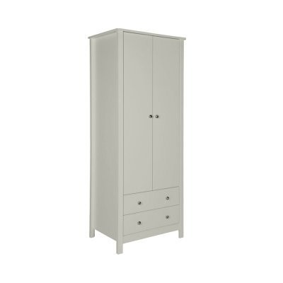 Florence Soft Grey 2 Door 2 Drawer Wardrobe