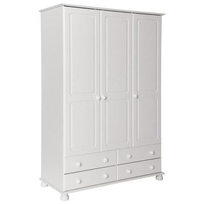 Copenhagen 3 Door 4 Drawer Robe White