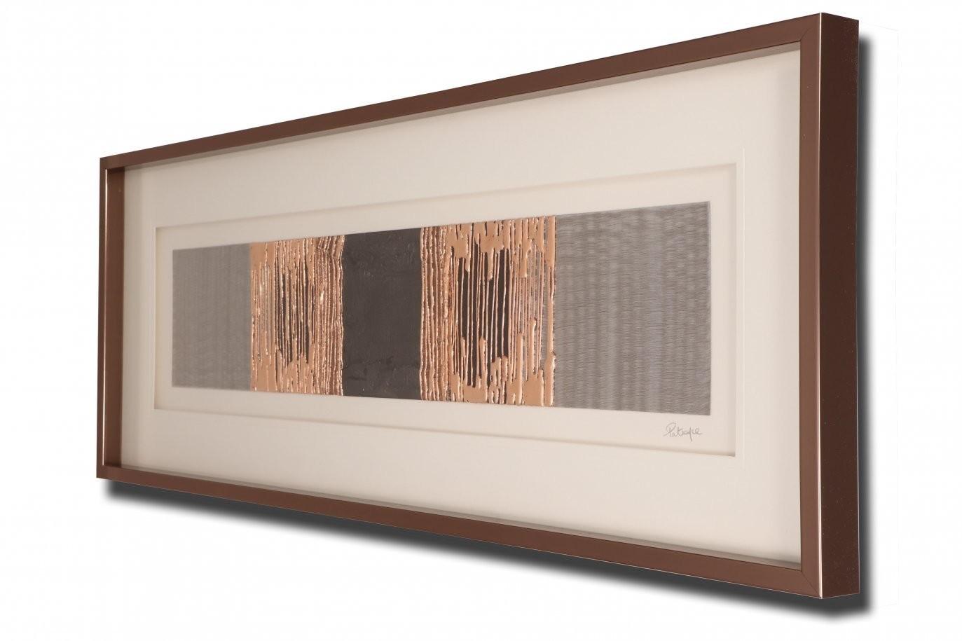 Linea Copper and Dark Grey Strata Artwork