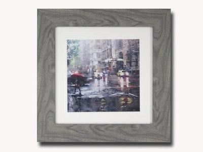 Manhattan Red Umbrella Lague Painting