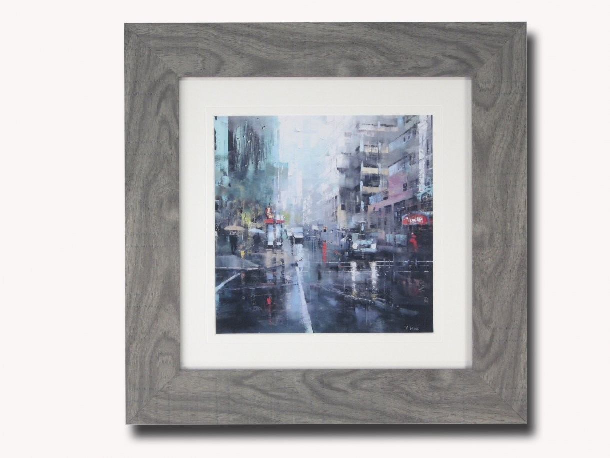 Montreal Turquoise Rain Lague Painting