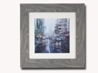 Montreal Turquoise Rain Lague Painting