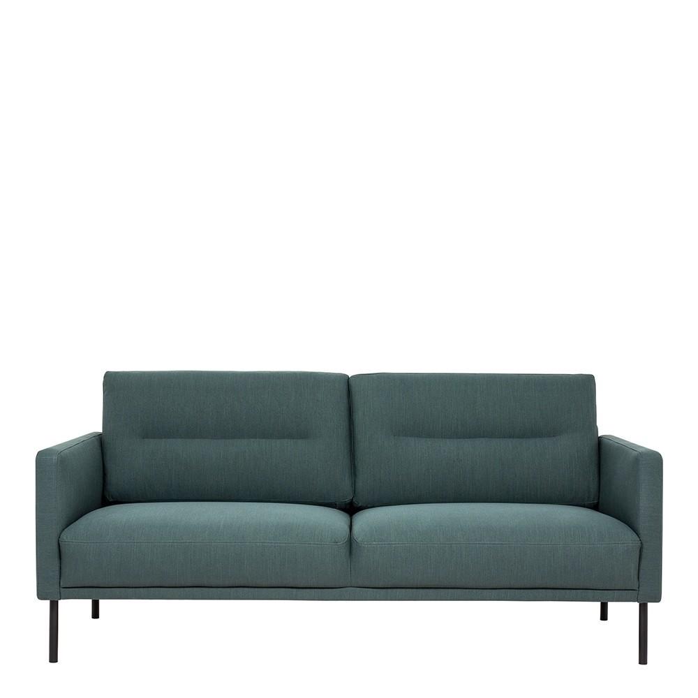Larvik 2 Seater Fabric Sofa Dark Green
