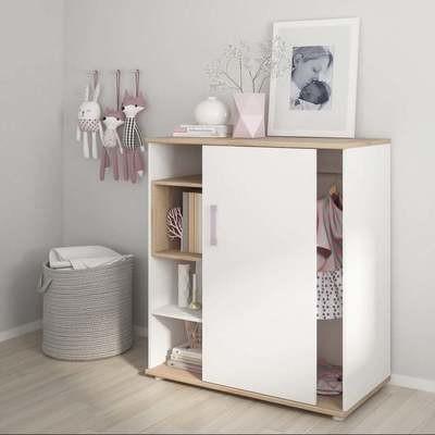 4KIDS Sliding Door Low Cabinet with Shelves