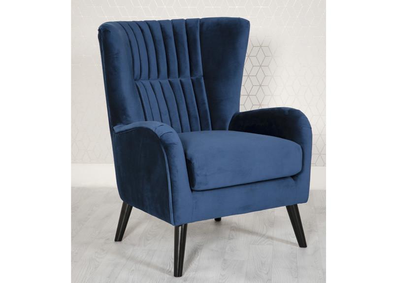 Modern Accent Chair Blue