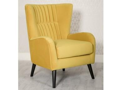 Modern Comfy Accent Chair Ochre