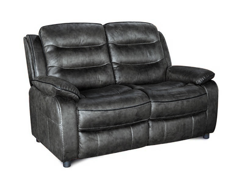 2 Seater Fixed Slate Fabric Sofa
