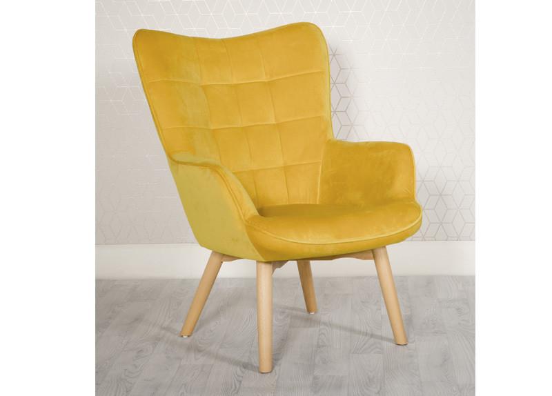 Yellow Modern Accent Chair Ochre
