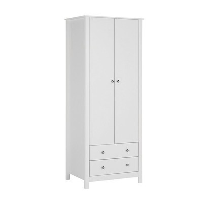 Florence 2 Door 2 Drawer White Wardrobe