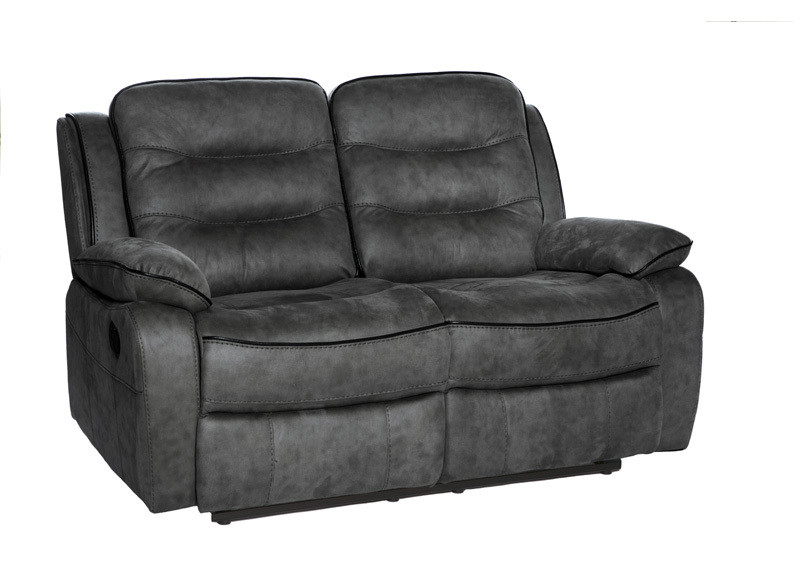 2 Seater Recliner Slate Fabric Sofa