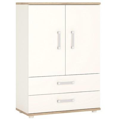 4KIDS Double Door Double Drawer Cabinet