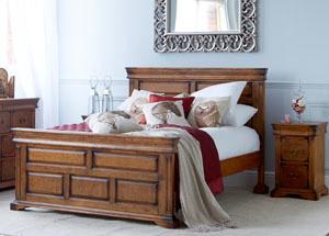 Birch Veneer Double Bed