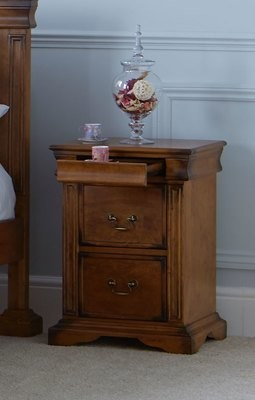 Rubberwood Bedside Table