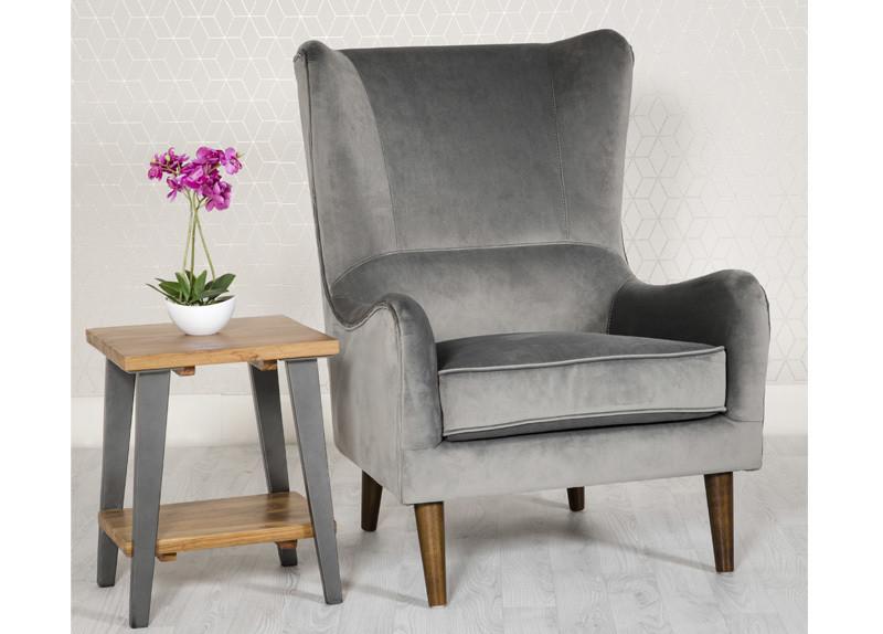 Valvet Grey Accent Chair
