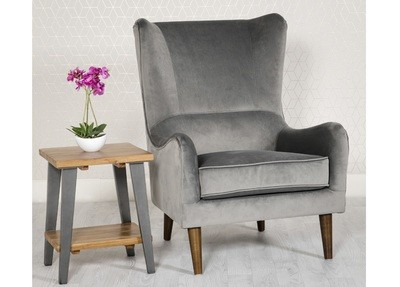 Valvet Grey Accent Chair