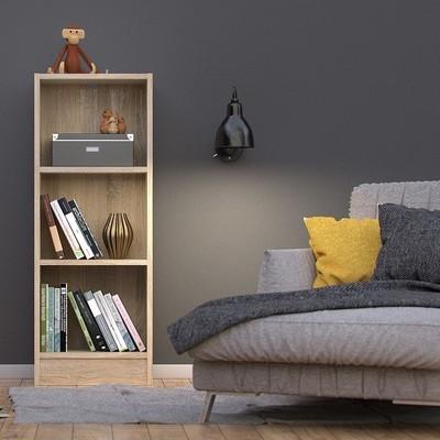Basic Oak 2 Shelves Bookcase