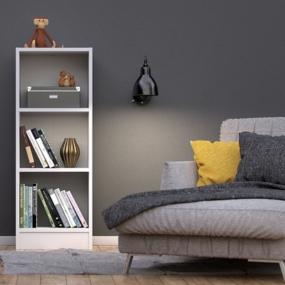 Basic White 2 Shelves Bookcase