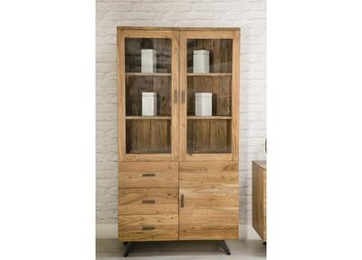 Anacia 3 Doors and 3 Drawers Display Cabinet