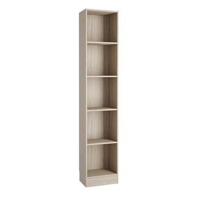Basic Oak Tall 4 Shelves Bookcase