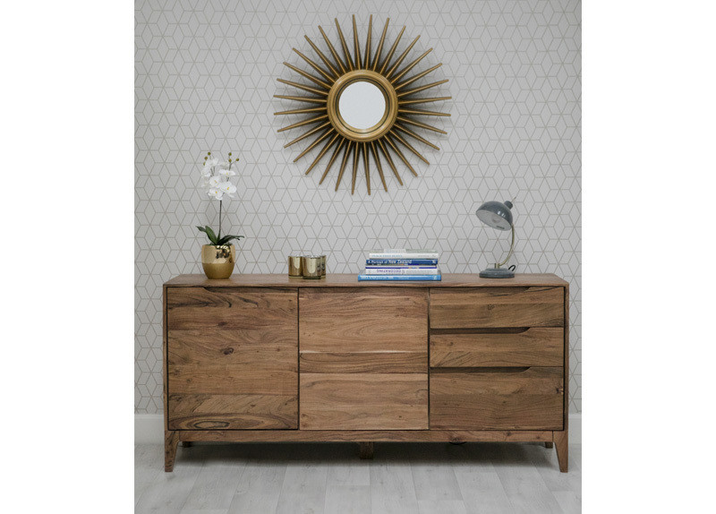 Solid Wood 2 Door 3 Drawer Sideboard