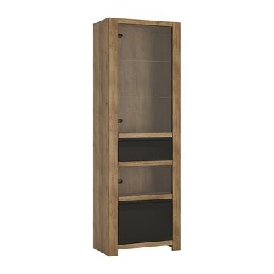 Havana Lefkas Oak Single Door Drawer Display Cabinet
