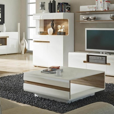 Chelsea White Modern Coffee Table